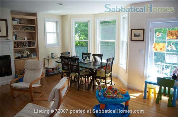 Furnished, sunny townhouse in Cambridge, 3BR/2.5BA  Home Rental in Cambridge, Massachusetts, United States 2