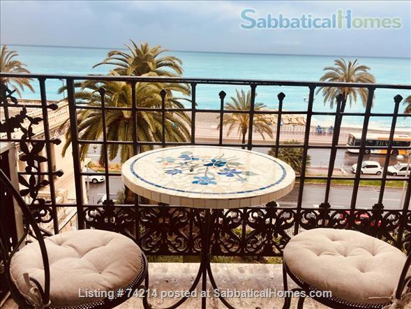 Large three roomed flat in Nice with panoramic view of the Mediterranean Home Rental in Nice, PACA, France 1