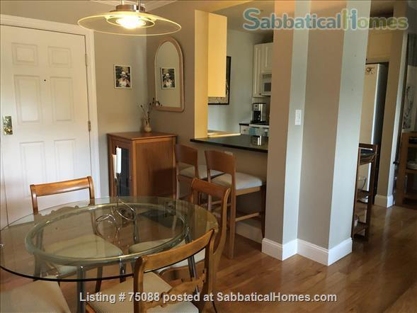Elegant, furnished one bedroom condo in Charlestown (with indoor parking) within walking distance of MGH, MIT, Harbor Ferry, The Freedom Trail, the North End, Bunker Hill Monument, and everything Boston has to offer. Home Rental in Boston, Massachusetts, United States 0