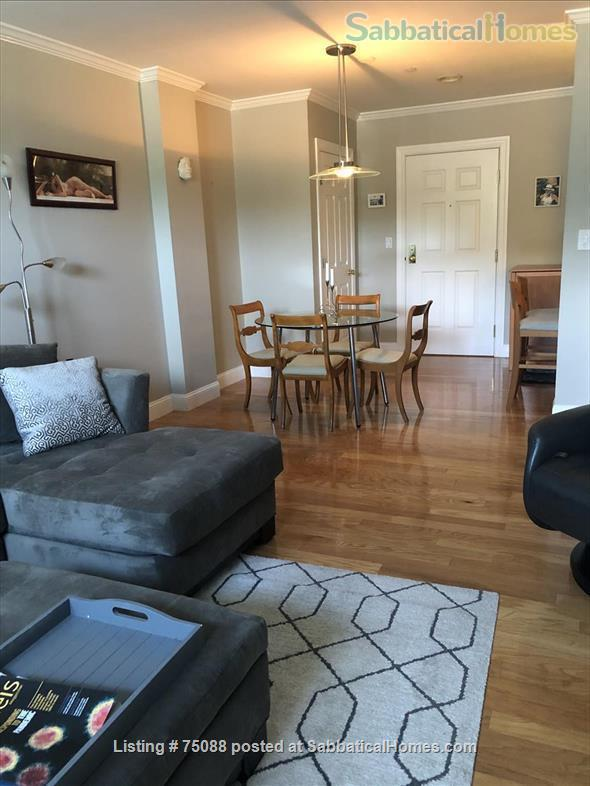 Elegant, furnished one bedroom condo in Charlestown (with indoor parking) within walking distance of MGH, MIT, Harbor Ferry, The Freedom Trail, the North End, Bunker Hill Monument, and everything Boston has to offer. Home Rental in Boston, Massachusetts, United States 2