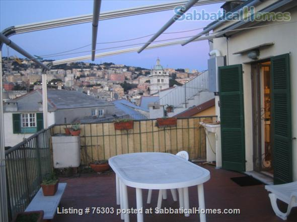 apartment furnished with terrace in the historical center in Genoa (Italy).  Home Rental in Genova, Liguria, Italy 1