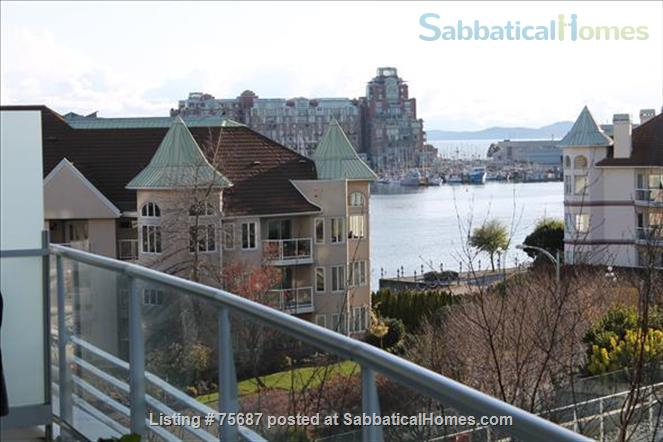 Resort living in the city, Contemporary 1 Bedroom & Den with views of Victoria Inner Harbour                                                          Home Rental in Victoria, British Columbia, Canada 0