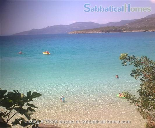 Peloponnese, cottage,  8' by foot from sandy beach, translucid water, panoramic view on see Home Rental in Lefktro, , Greece 1
