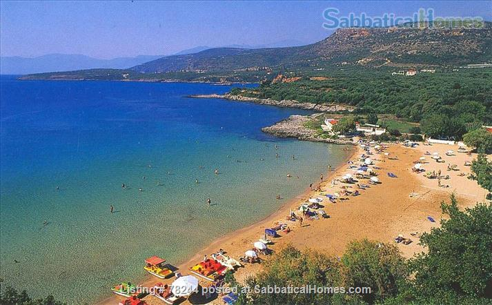 Peloponnese, cottage,  8' by foot from sandy beach, translucid water, panoramic view on see Home Rental in Lefktro, , Greece 2