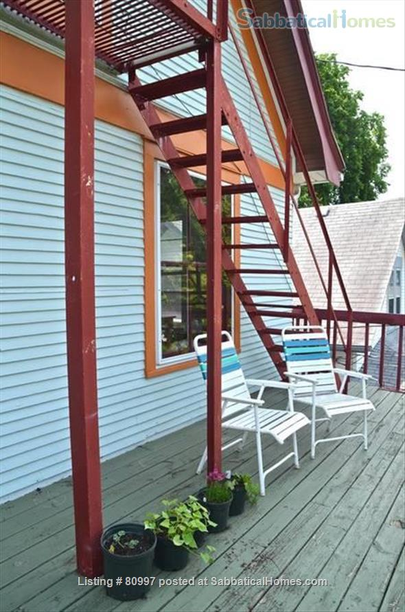 LARGE SUNNY  NEAR EAST FLAT, charming and beautifully artistic. Home Rental in Madison, Wisconsin, United States 7
