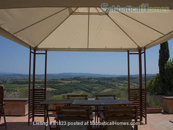 Indepent cool house on a Tuscan hill with splendid views, grand piano and private pool.  Between Florence and Siena. Adapted for sabbaticals by art lovers, musicians, writers, poets, artists.... Home Rental in Lucardo, Toscana, Italy 6