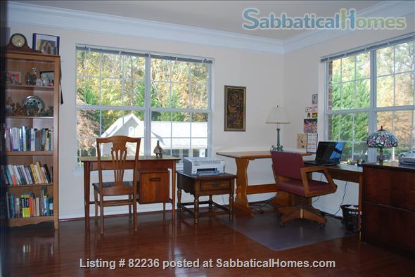 May through Oct  in This Spacious 2 BR Apt with Office & Pool near UNC & Duke Home Rental in Chapel Hill, North Carolina, United States 2