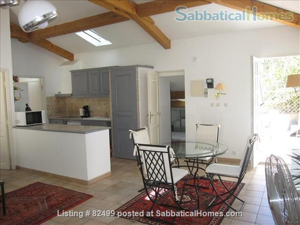 Charming, spacious 2 bedroom - 1 bath terrace apt. with parking  in lovely, quiet area, 2 miles from Cours Mirabeau Home Rental in Aix-en-Provence, Provence-Alpes-Côte d'Azur, France 1