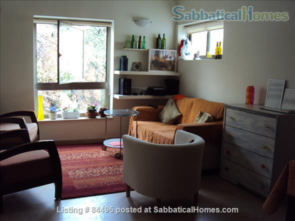 Very pleasant furnished flat in central Tel-Aviv overlooking a small park Home Rental in Tel Aviv-Yafo, Tel Aviv District, Israel 1
