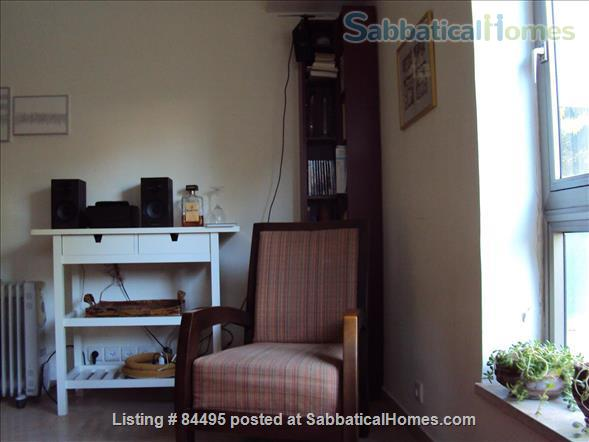 Very pleasant furnished flat in central Tel-Aviv overlooking a small park Home Rental in Tel Aviv-Yafo, Tel Aviv District, Israel 0