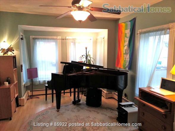 Beautiful one bedroom apartment with grand piano Home Rental in Somerville, Massachusetts, United States 0