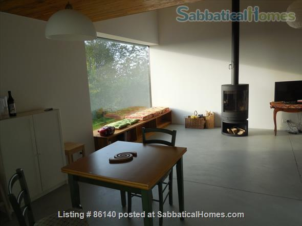 Large modern studio, country side near Lausanne UNIL - EPFL, quiet and well equiped Home Rental in Berolle, VD, Switzerland 1