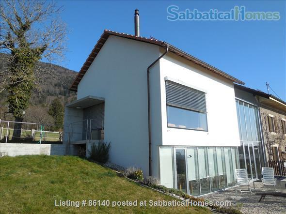 Large modern studio, country side near Lausanne UNIL - EPFL, quiet and well equiped Home Rental in Berolle, VD, Switzerland 0