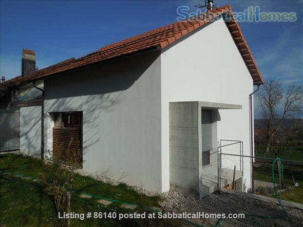 Large modern studio, country side near Lausanne UNIL - EPFL, quiet and well equiped Home Rental in Berolle, VD, Switzerland 3