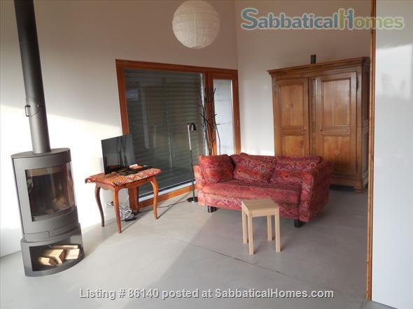 Large modern studio, country side near Lausanne UNIL - EPFL, quiet and well equiped Home Rental in Berolle, VD, Switzerland 6
