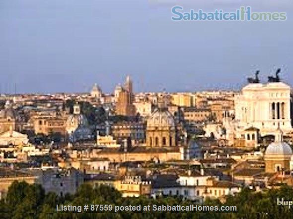 MONTEVERDE PAMPHILI /GIANICOLO HILL NEAR TRASTEVERE LARGE TERRACE STYLISH FURNISHED APARTMENT Home Rental in Rome, Lazio, Italy 9