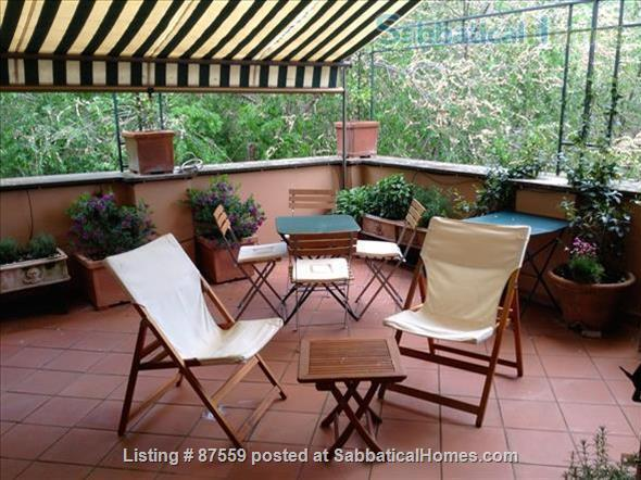 MONTEVERDE PAMPHILI /GIANICOLO HILL NEAR TRASTEVERE LARGE TERRACE STYLISH FURNISHED APARTMENT Home Rental in Rome, Lazio, Italy 2