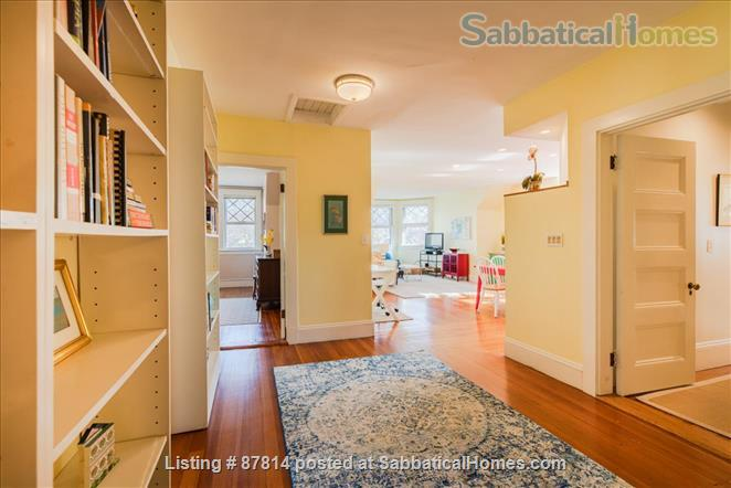 Cambridge: Beautiful 2 Bedroom+Office private apartment steps to Harvard , separate entrance, furnished  Home Rental in Cambridge, Massachusetts, United States 1