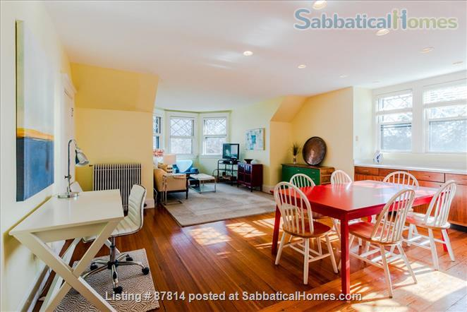 Cambridge: Beautiful 2 Bedroom+Office private apartment steps to Harvard , separate entrance, furnished  Home Rental in Cambridge, Massachusetts, United States 0