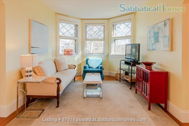 Cambridge: Beautiful 2 Bedroom+Office private apartment steps to Harvard , separate entrance, furnished  Home Rental in Cambridge, Massachusetts, United States 3