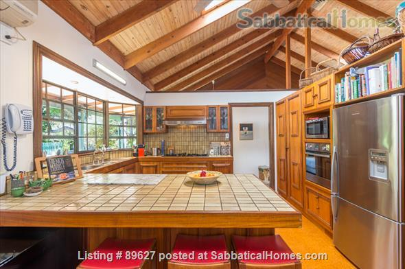 Family home in a bush setting close to The University of Queensland & schools. 3 bedroom, library, music room, study + Pool, privacy, space. Home Rental in Brisbane, QLD, Australia 2