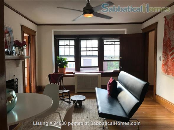 JULY 1 / AMAZING 3BR Harvard / Porter:  fully furnished, ALL utilities + internet  + deck + laundry, pets ok Home Rental in Cambridge, Massachusetts, United States 0