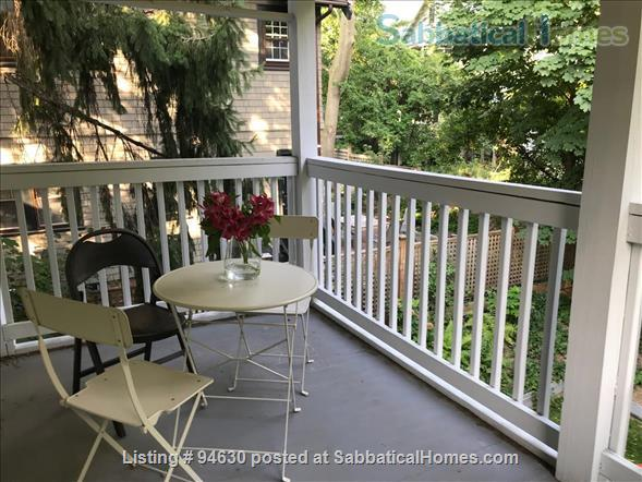 JULY 1 / AMAZING 3BR Harvard / Porter:  fully furnished, ALL utilities + internet  + deck + laundry, pets ok Home Rental in Cambridge, Massachusetts, United States 5