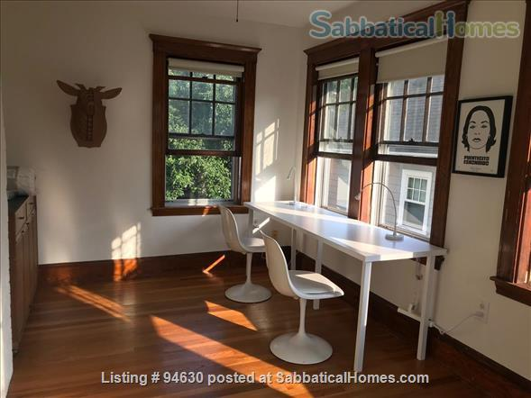 JULY 1 / AMAZING 3BR Harvard / Porter:  fully furnished, ALL utilities + internet  + deck + laundry, pets ok Home Rental in Cambridge, Massachusetts, United States 6
