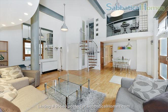 Sleek converted loft apartment in East London -- belongs to US-based academic family Home Rental in London, England, United Kingdom 1