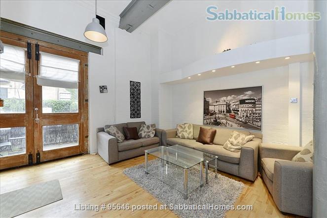 Sleek converted loft apartment in East London -- belongs to US-based academic family Home Rental in London, England, United Kingdom 0