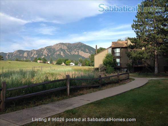 Townhouse on open space in S. Boulder -- 3 BR, 2.5 baths, garage, campus setting  Home Rental in Boulder, Colorado, United States 1