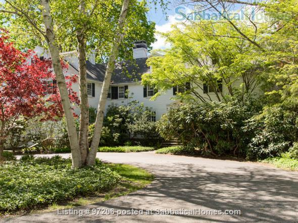 Park-like setting,  Home Office, 4BR/5BA,  nr train and rte 128 to Tufts, BU, MIT or Harvard.  Min. to Gordon, Endicott, Landmark Home Rental in Manchester-by-the-Sea, Massachusetts, United States 0