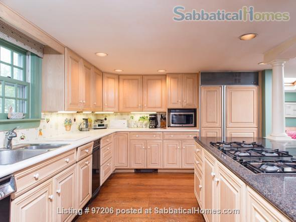 Park-like setting,  Home Office, 4BR/5BA,  nr train and rte 128 to Tufts, BU, MIT or Harvard.  Min. to Gordon, Endicott, Landmark Home Rental in Manchester-by-the-Sea, Massachusetts, United States 4