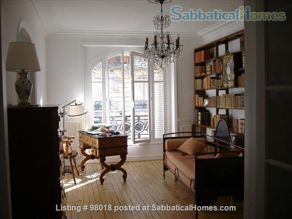 Parisian charm of a 3-room flat in front of the Buttes Chaumont Park Home Rental in Paris, Île-de-France, France 1