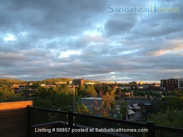 Sunny two-story condo with two private roof terrasses  Home Rental in Montréal, Québec, Canada 3