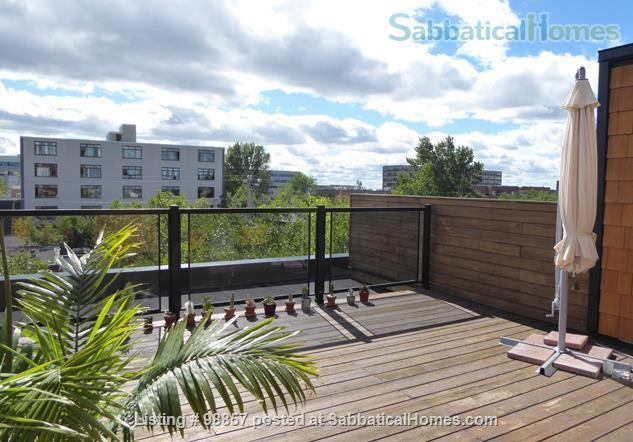 Sunny two-story condo with two private roof terrasses  Home Rental in Montréal, Québec, Canada 5