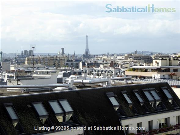 Sunny flat with a fantastic panoramic view over Paris, 2 bedrooms and 1 large living room Home Rental in Paris, IDF, France 5